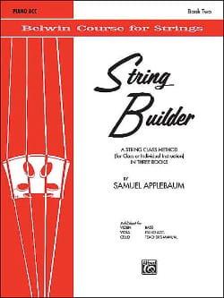 Samuel Applebaum - Generador de cuerdas, volumen 2 - Acompañamiento de piano - Partitura - di-arezzo.es