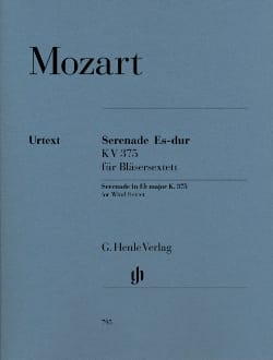 MOZART - Serenade in E flat major K. 375 for 2 clarinets, 2 horns and 2 bassoons - Partition - di-arezzo.co.uk
