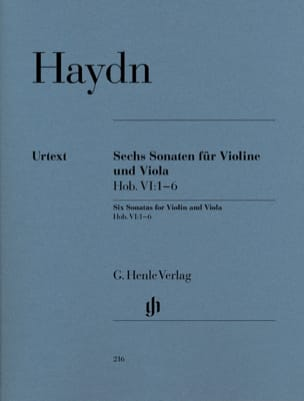HAYDN - Six Hob sonatas. VI: 1-6 for violin and viola - Sheet Music - di-arezzo.com