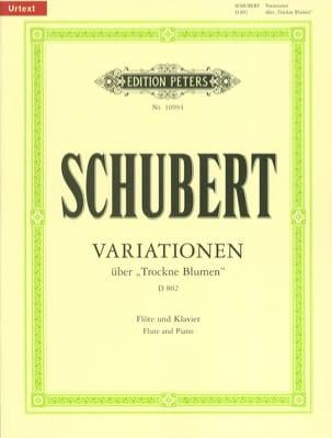 Variationen über Trockne Blumen D. 802 - SCHUBERT - laflutedepan.com
