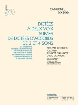 Catherine Brière - Dictations with 2 voices and chords 2 CDs - Sheet Music - di-arezzo.co.uk