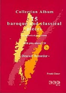 Frank Glaser - 75 Baroque and Classical Pieces with CD - Partition - di-arezzo.fr