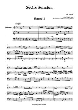 BACH - 6 Sonaten BWV 525-530 - Bd. 1 - Sheet Music - di-arezzo.co.uk