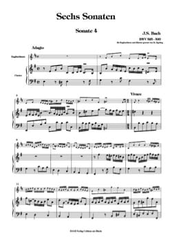 BACH - 6 Sonaten BWV 525-530 - Bd. 2 - English Horn Klavier - Sheet Music - di-arezzo.co.uk