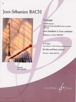 BACH - Sonata in E flat major - Oboe - Sheet Music - di-arezzo.com