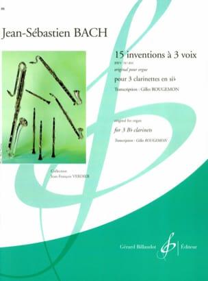 15 Inventions à 3 voix - 3 clarinettes BACH Partition laflutedepan