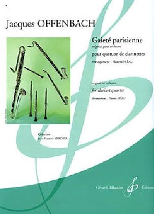 Jacques Offenbach - Gaieté parisienne - quatuor clarinettes - Partition - di-arezzo.fr