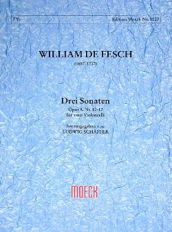 Drei Sonaten op. 8 n° 10-12 Willem de Fesch Partition laflutedepan