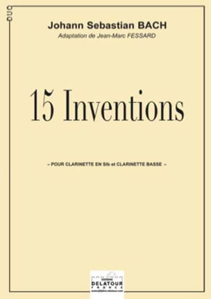 15 Inventions BACH Partition Clarinette - laflutedepan