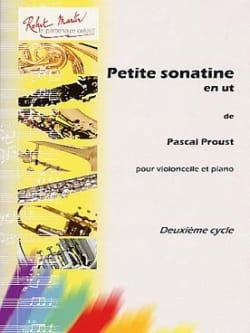 Petite Sonatine en Ut Pascal Proust Partition laflutedepan