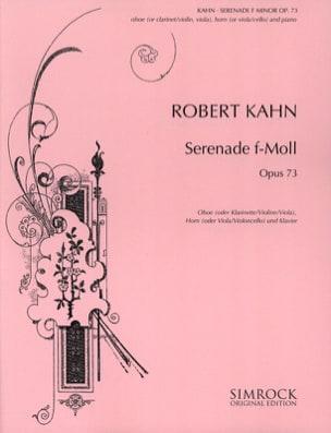 Robert Kahn - Serenade f-moll op. 73 – Oboe Horn Klavier - Partition - di-arezzo.fr