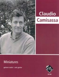 Miniatures Claudio Camisassa Partition Guitare - laflutedepan