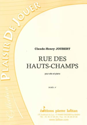 Claude-Henry Joubert - Rue des Hauts-Champs - Sheet Music - di-arezzo.co.uk