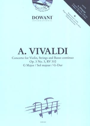 Antonio Vivaldi - Concerto No. 3 op. 3 RV 310 in G major - Sheet Music - di-arezzo.co.uk