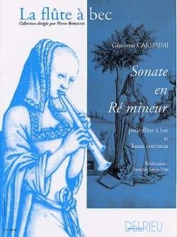 Giacomo Carissimi - Sonate en ré mineur - Partition - di-arezzo.fr