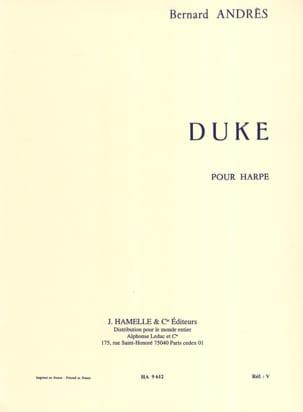 Duke Bernard Andrès Partition Harpe - laflutedepan