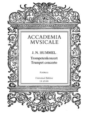 Concerto Pour Trompette HUMMEL Partition Grand format - laflutedepan