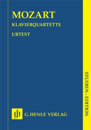 MOZART - KV 478 and 493 Piano Quartets - Sheet Music - di-arezzo.co.uk