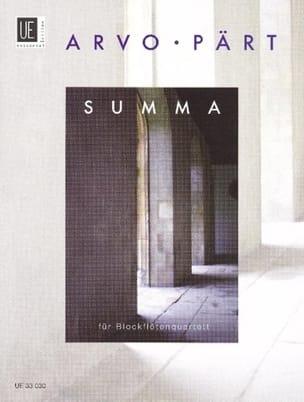 Summa – Blockflötenquartett –Stim. Part. - laflutedepan.com