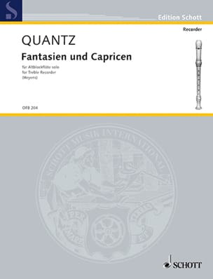 Johann Joachim Quantz - Fantasy and Capricen - Altblockflöte Solo - Sheet Music - di-arezzo.co.uk