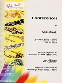 Conférences - Alain Crépin - Partition - Hautbois - laflutedepan.com