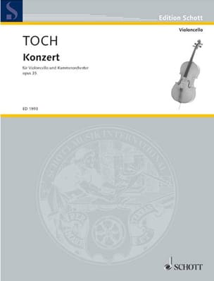 Cello Konzert - Ernst Toch - Partition - laflutedepan.com