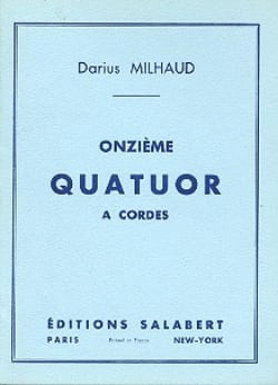 Darius Milhaud - String Quartet No. 11 - Conductor - Sheet Music - di-arezzo.co.uk