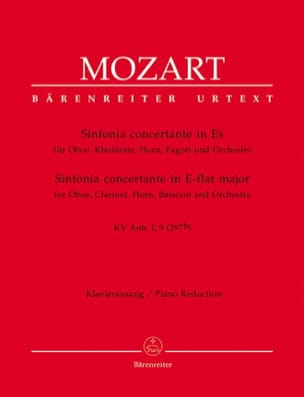 Wolfgang Amadeus Mozart - Sinfonia concertante in Es KV Anh. 1, 9 (297b) – Oboe Kl. Horn Fagott Klavier - Partition - di-arezzo.fr