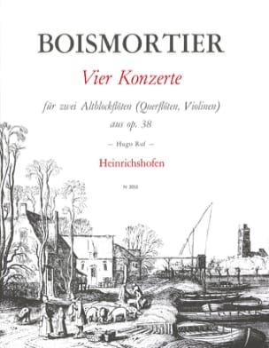 BOISMORTIER - 4 Konzerte op. 38 - 2 Altblockflöten - Sheet Music - di-arezzo.co.uk