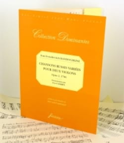 Ivan Evstafievitch Handochkine - Various Russian Songs Op.2 1796 - Sheet Music - di-arezzo.co.uk