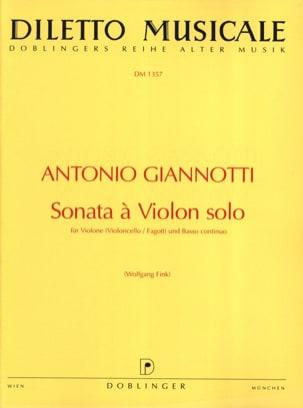 Sonata A Violon Solo - Antonio Giannotti - laflutedepan.com