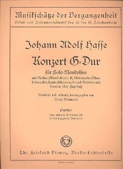 J.A. Hasse - Konzert G-Dur for Solo-Mandolin - partitur - Sheet Music - di-arezzo.com