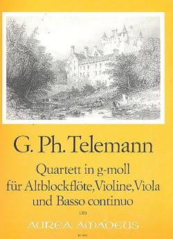 Quartett g-moll - Altblockflöte Violine Viola Bc TELEMANN laflutedepan