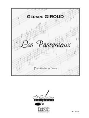 Les Passereaux - Gérard Giroud - Partition - Violon - laflutedepan.com