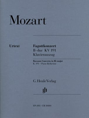 MOZART - Bassoon Concerto in B flat major KV 191 - Sheet Music - di-arezzo.com