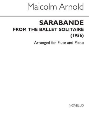 Sarabande - Flûte piano Malcolm Arnold Partition laflutedepan