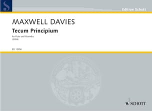 Tecum Principium - Davies Peter Maxwell - Partition - laflutedepan.com