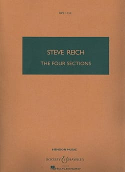 Steve Reich - 4 Sections - Sheet Music - di-arezzo.com