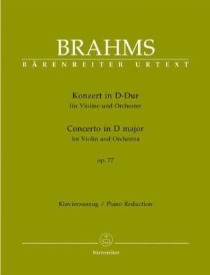 BRAHMS - Violin Concerto in D major op. 77 - Sheet Music - di-arezzo.co.uk