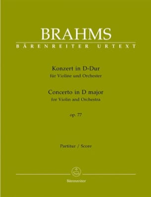 BRAHMS - Violin Concerto in D major op. 77 - Score - Sheet Music - di-arezzo.co.uk