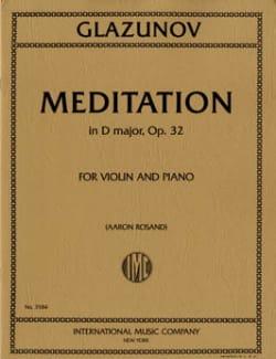 Méditation En Ré Maj.Op.32 Alexandre Glazounov Partition laflutedepan