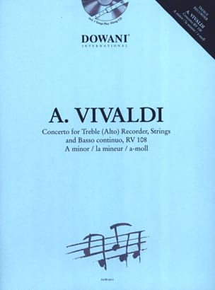 VIVALDI - Concerto for Alto Recorder RV 108 in the min. - Sheet Music - di-arezzo.co.uk