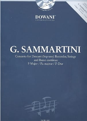 SAMMARTINI - Sopr. Recorder Concerto in maj. - Sheet Music - di-arezzo.co.uk