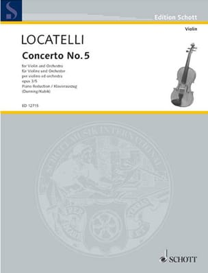 Pietro Antonio Locatelli - Concerto Violon op. 3 n° 5 en do majeur - Partition - di-arezzo.fr