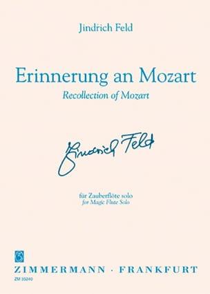 Erinnerung an Mozart -Flöte solo Jindrich Feld Partition laflutedepan