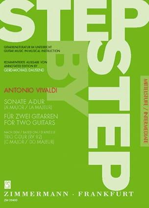 Antonio Vivaldi - Sonate A-Dur (nach Trio C-Dur RV 82) –2 Gitarren - Partition - di-arezzo.fr