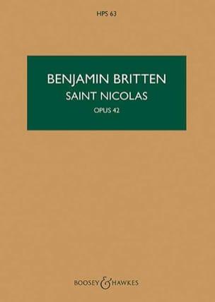 Benjamin Britten - Saint Nicolas Op. 42 - Partition - di-arezzo.fr