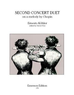 Second concert duet op. 68 - Ernesto KÖHLER - laflutedepan.com