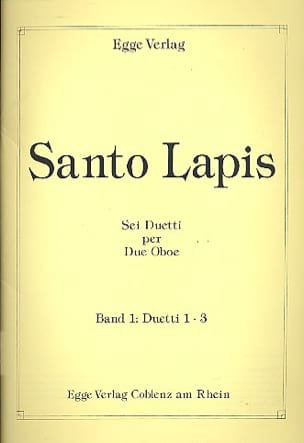 Santo Lapis - 6 Duetti per 2 Oboe – Volume 1 - Partition - di-arezzo.fr