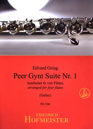 Edvard Grieg - Peer Gynt Suite Nr. 1 - 4 Flöten - Sheet Music - di-arezzo.co.uk